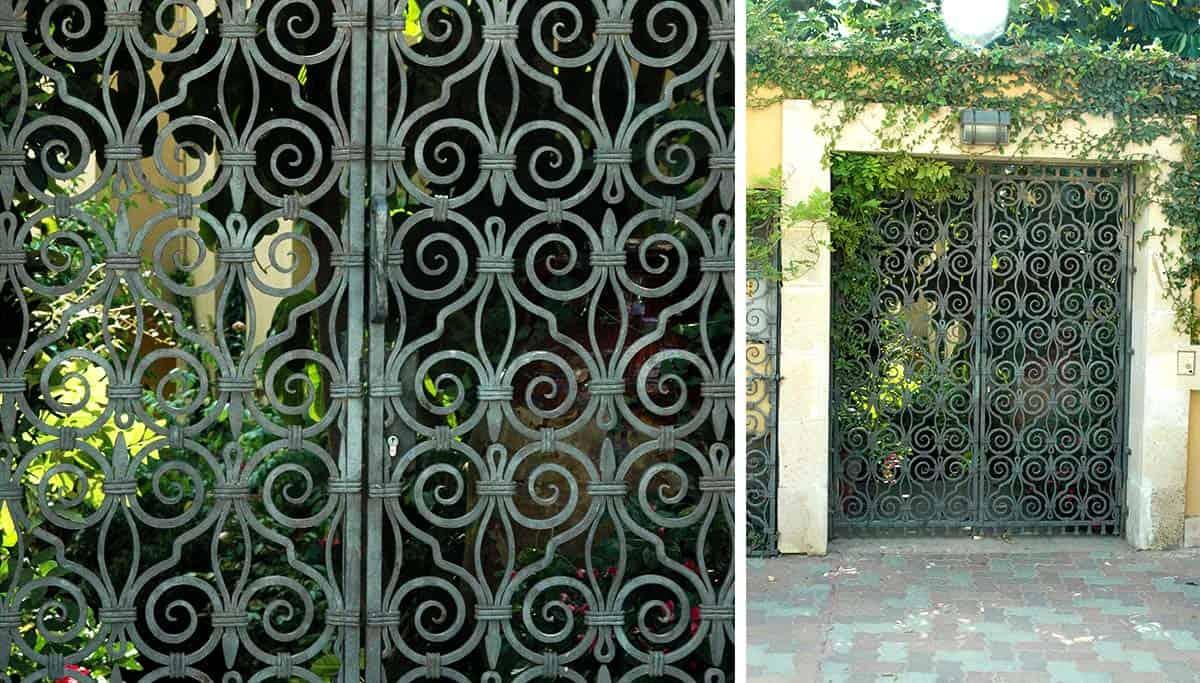 שערים מברזל לגינה בסגנון ארט נובו