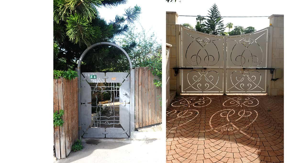 שערים חשמליים מברזל בסגנון ארט נובו