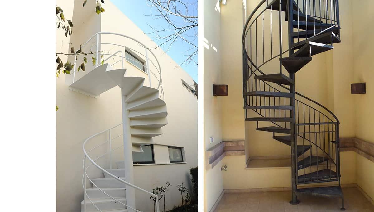 גלריית שור - מדרגות ברזל ספירלה