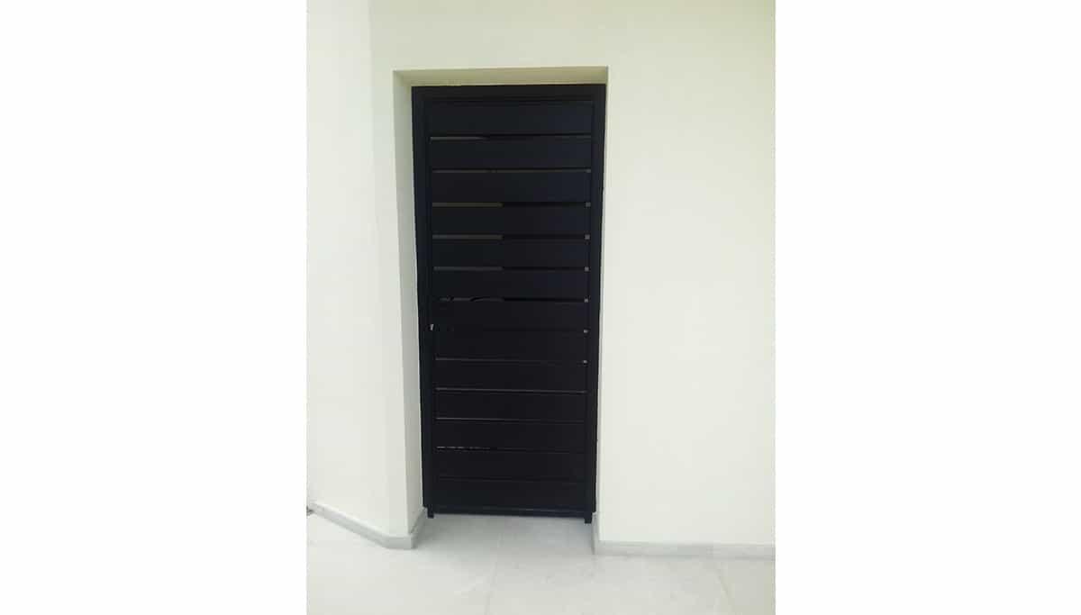 דלת ברזל בעיצוב אישי בית מנו
