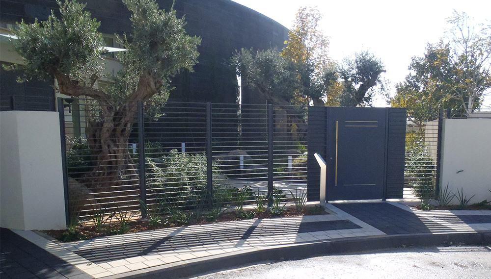 גדר ברזל מעוצבת - בית יבגני